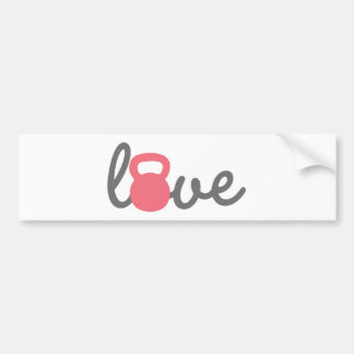 Love Kettlebell Pink Bumper Sticker