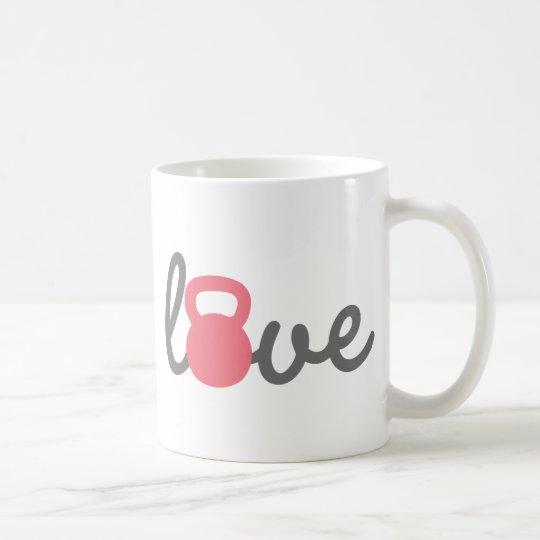 Love Kettlebell Pink Coffee Mug