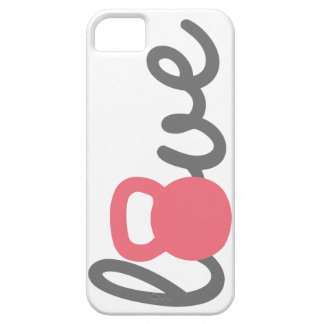 Love Kettlebell Pink iPhone SE/5/5s Case