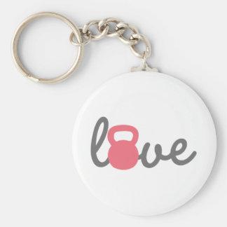 Love Kettlebell Pink Key Chain