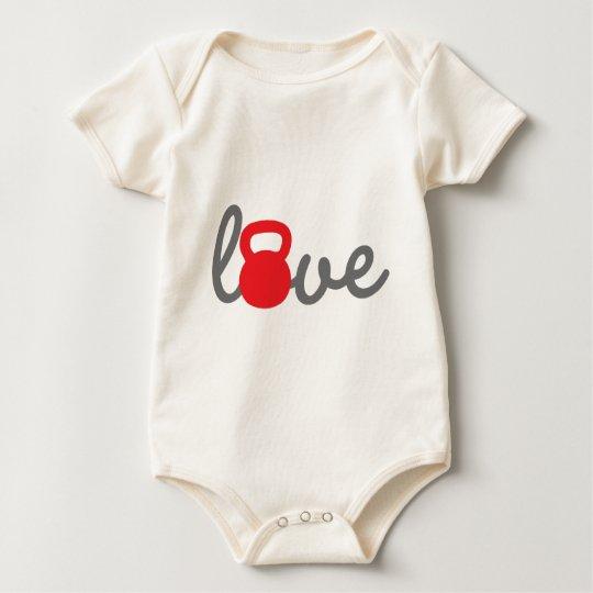 Love Kettlebell Red Baby Bodysuit