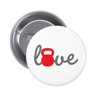 Love Kettlebell Red Pin