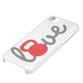 Love Kettlebell Red Cover For iPhone 5C