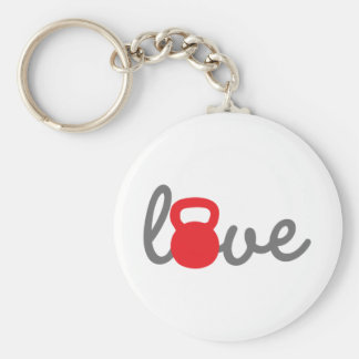 Love Kettlebell Red Key Chains