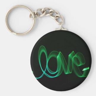 Love Basic Round Button Keychain