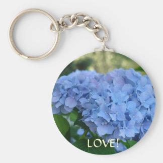 LOVE! Keychain Hydrangea Flowers Valentines Day