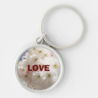 LOVE keychains custom Pink Blossom Flowers
