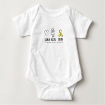 Love Kids Cure Childhood Cancer Awareness Suppor Baby Bodysuit