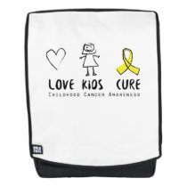 Love Kids Cure Childhood Cancer Awareness Suppor Backpack