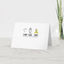 Love Kids Cure Childhood Cancer Awareness Suppor Card