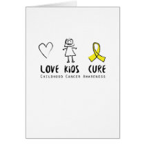 Love Kids Cure Childhood Cancer Awareness Suppor Card
