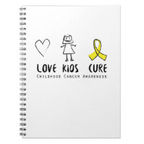 Love Kids Cure Childhood Cancer Awareness Suppor Notebook