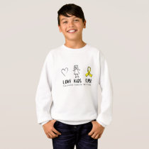 Love Kids Cure Childhood Cancer Awareness Suppor Sweatshirt