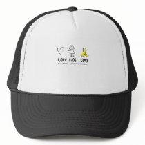 Love Kids Cure Childhood Cancer Awareness Suppor Trucker Hat