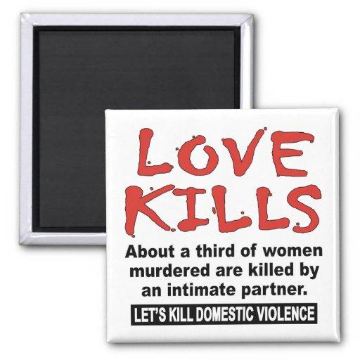 Love Kills 2 Inch Square Magnet