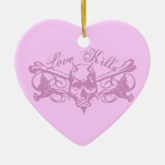 Love Kills Christmas Tree Ornament