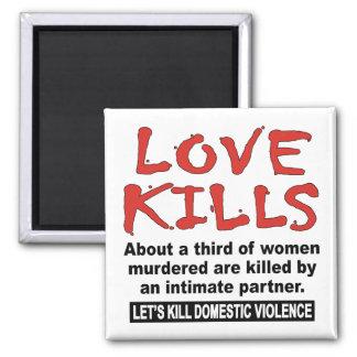 Love Kills Refrigerator Magnets