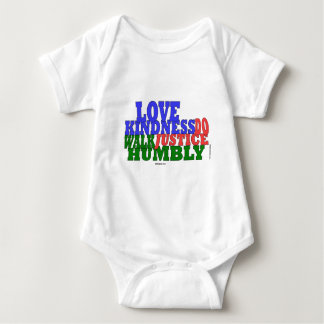 lOVE KINDNESS WALK HUMBLY Micah 6:8 Baby Bodysuit
