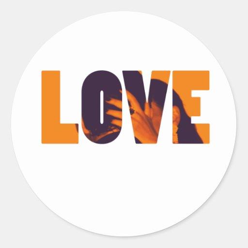 Love Kiss Classic Round Sticker