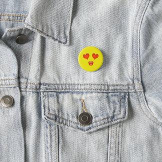 Love Kiss Heart Eyes Emoji Pinback Button