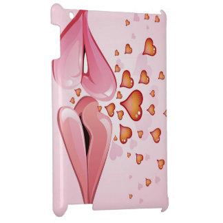 love kiss pink hearts iPad case