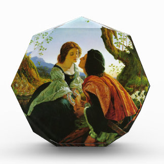 Love kiss romantic couple medieval sword Hesperus Acrylic Award