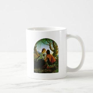 Love kiss romantic couple medieval sword Hesperus Coffee Mug