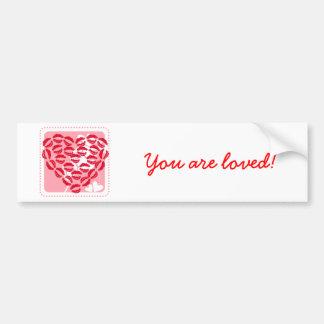 Love Kisses Car Bumper Sticker