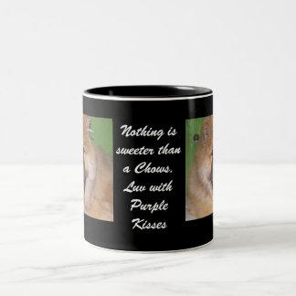 Love & Kisses Two-Tone Coffee Mug