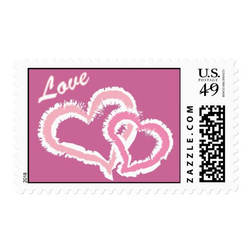 Love Kissing Hearts Postage Stamp