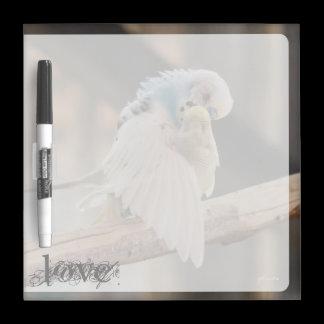 Love / Kissing Love Birds Photo Custom Dry Erase Board