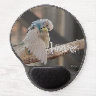 Love / Kissing Love Birds Photo Custom Gel Mouse Pad
