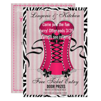 Love Kitchen And Lingerie Bridal Shower Invitation