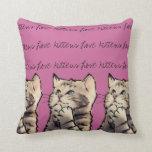 love kittens throw pillows