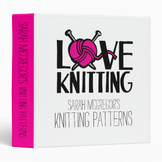 Love knitting Knitters Patterns yarn folder