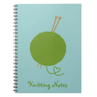 Love Knitting Notes Spiral Notebook