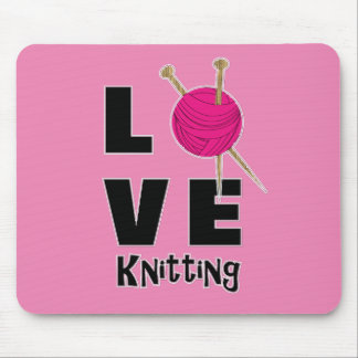 Love Knitting Wool And Needles Novelty Mouse Pad