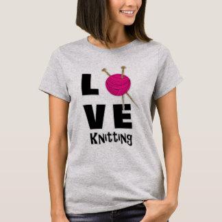 Love Knitting Wool And Needles Novelty T-Shirt