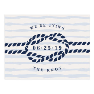 Love Knot Save the Date Postcard