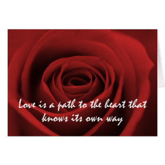 Love knows it's own way greeting card