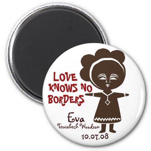 Love Knows No Borders Fridge Magnet