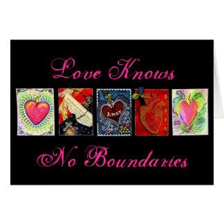 """""""Love Knows No Boundaries"""" Greeting Card"""