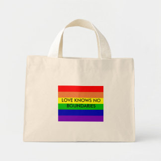 LOVE KNOWS NO BOUNDARIES MINI TOTE BAG
