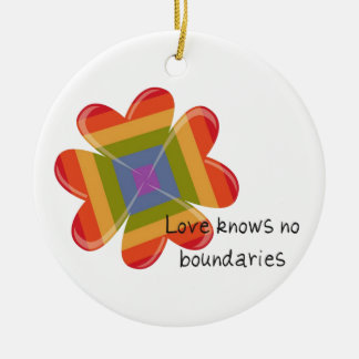 Love Knows No Boundaries Double-Sided Ceramic Round Christmas Ornament