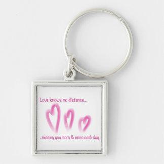 Love knows no distance keychain