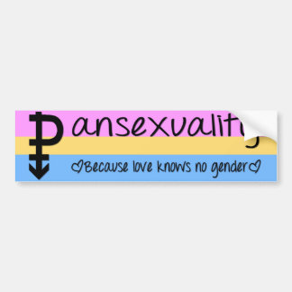 Love Knows No Gender Bumper Sticker Car Bumper Sticker