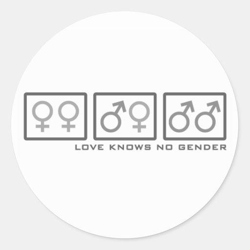 Love Knows No Gender Classic Round Sticker