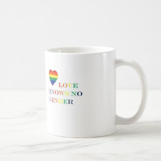 Love knows no gender (drink to it) coffee mug