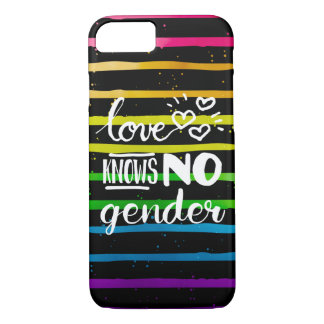 Love Knows No Gender LGBT iPhone 7 Case