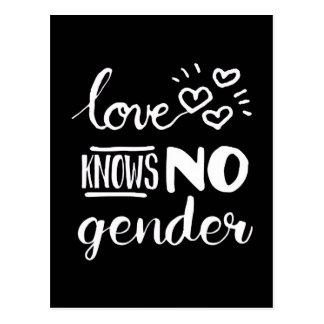 Love knows no gender postcard